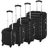 TecTake Set de 4 valises de Voyage de ABS Serrure à Combinaison intégrée | poignée télescopique | roulettes 360° -...