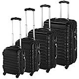 TecTake Set de 4 valises de Voyage de ABS avec Serrure à Combinaison intégrée | poignée télescopique | roulettes 360° -...