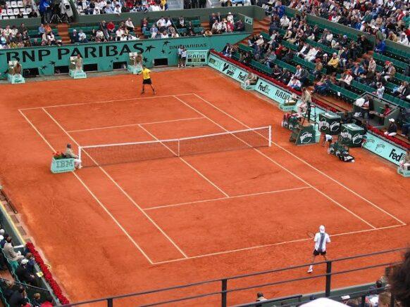 Match de tennis à Roland Garros