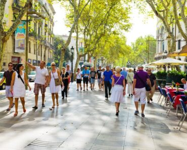 barcelone Se promener sur la Rambla