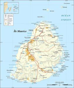 Carte de l'Ile Maurice