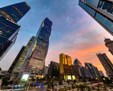 Le quartier d'affaires à Canton, au sud de la Chine