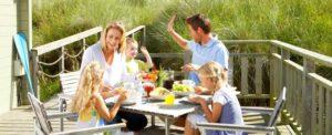 vacances en famille petit dej