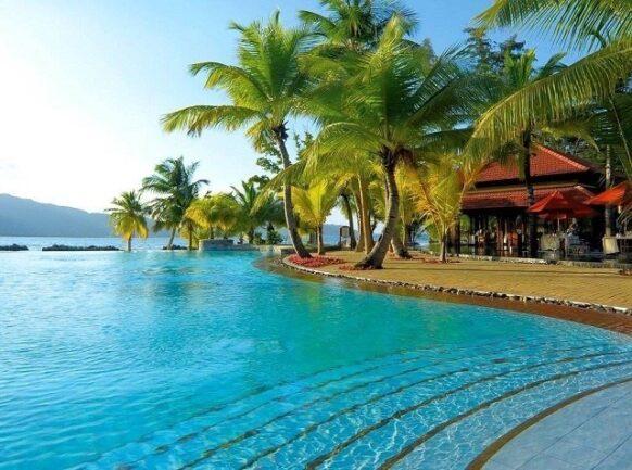 Un hôtel aux Seychelles