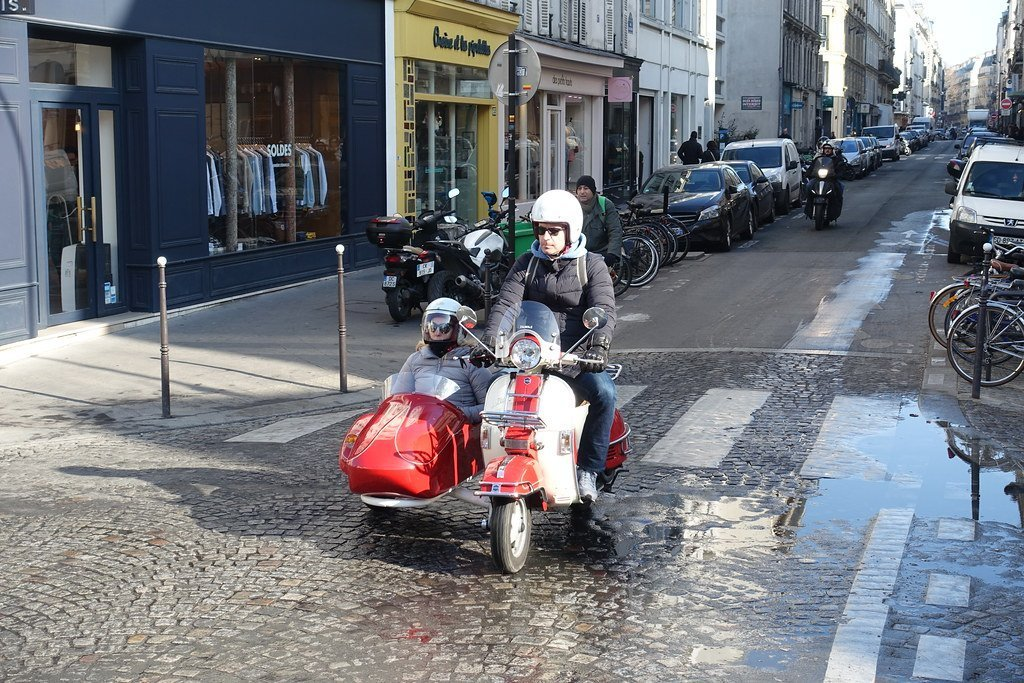 Paris en scooter