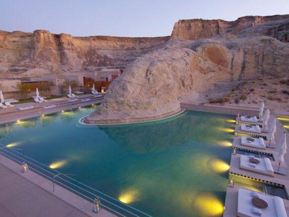 hotel amangiri utah piscine