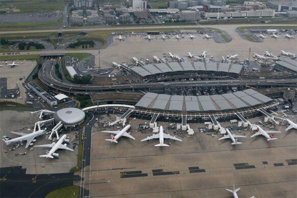aéroport Roissy-Charles-de-Gaulle vu du ciel