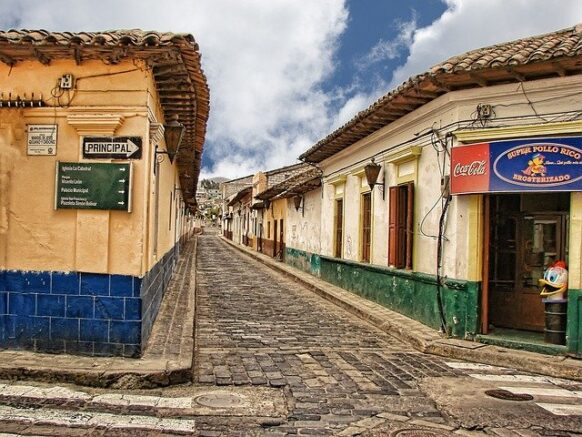 Atitlan, cobblestone street